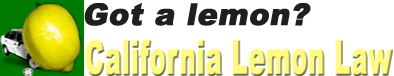 California Lemon Law Info